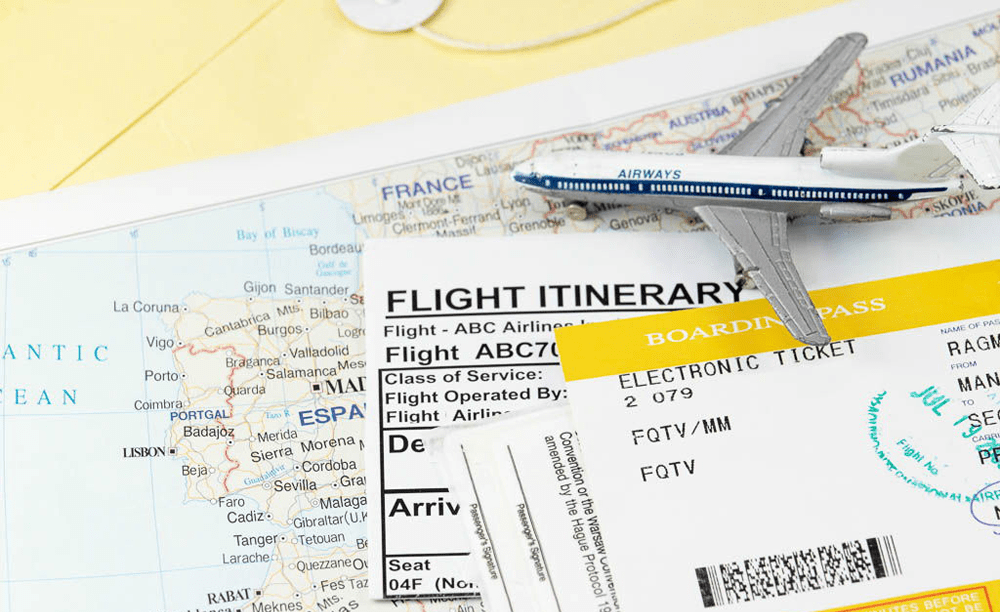Flight itinerary meaning