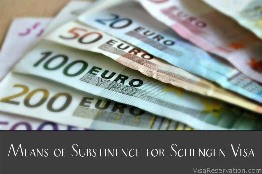 Travel money for Schengen visa