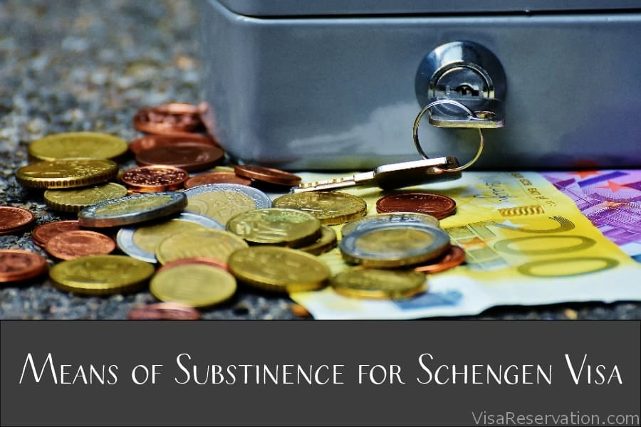 Proof of financial sufficiency for Schengen visa
