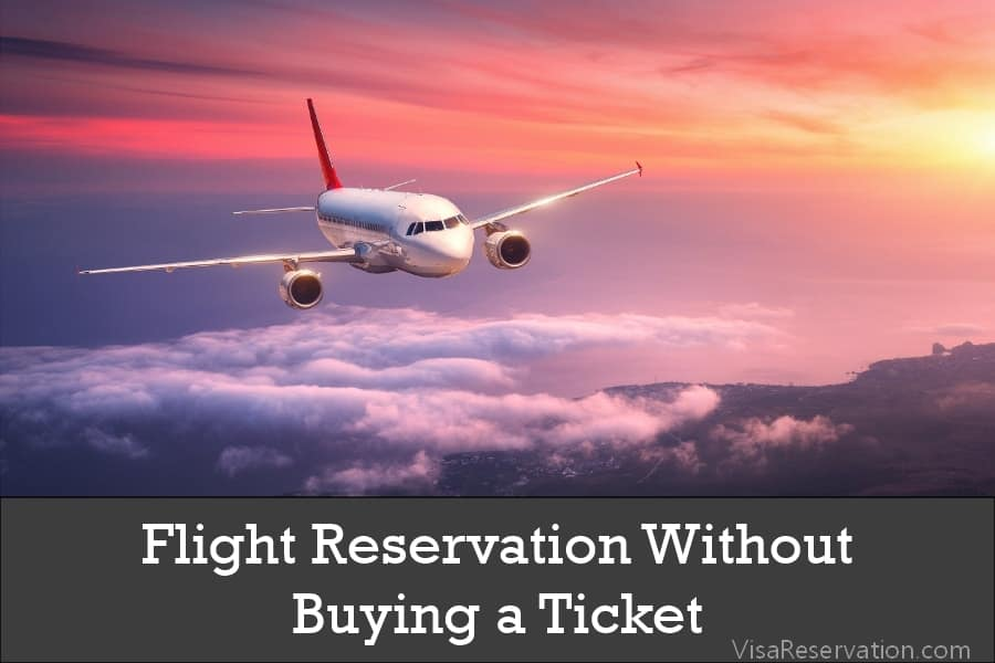 Flight reservation without paying