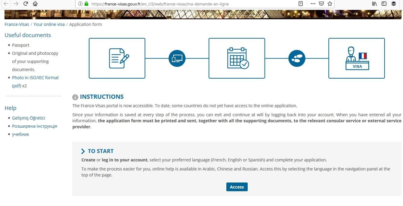 France Schengen Visa Los Angeles Online Application