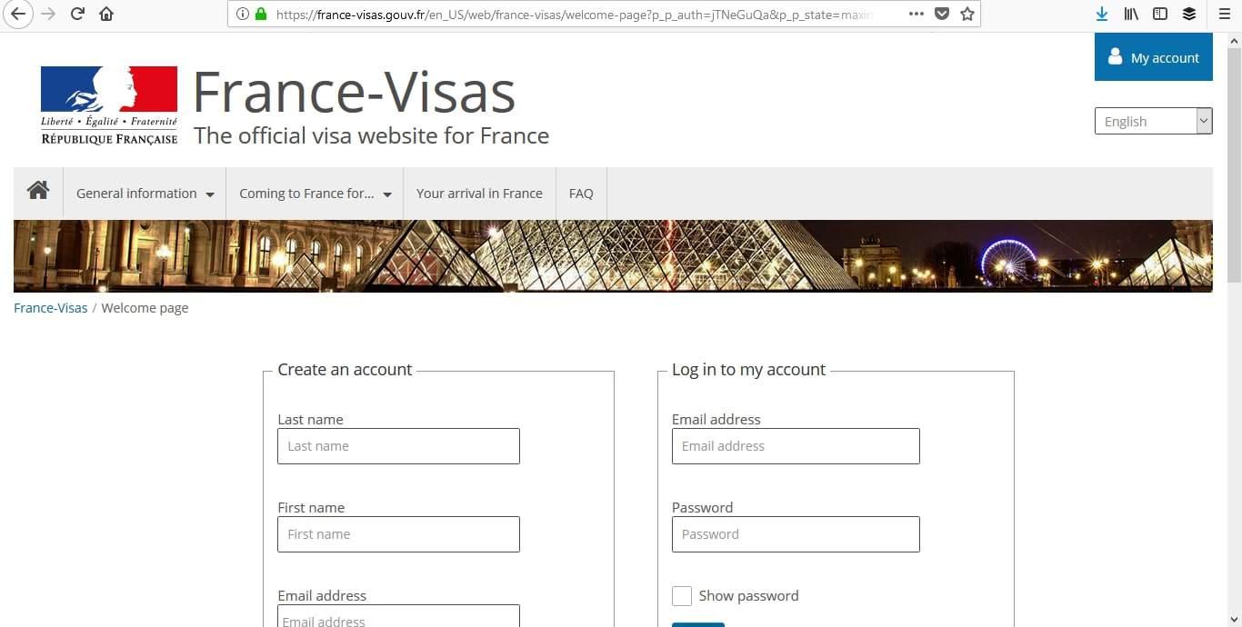 France Schengen Visa Los Angeles Online Application1