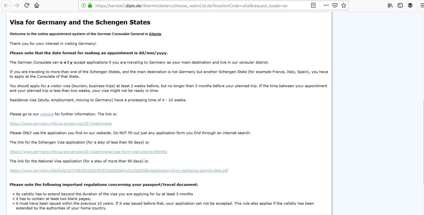 Germany Schengen Visa Atlanta Consulate Visa Appointment2