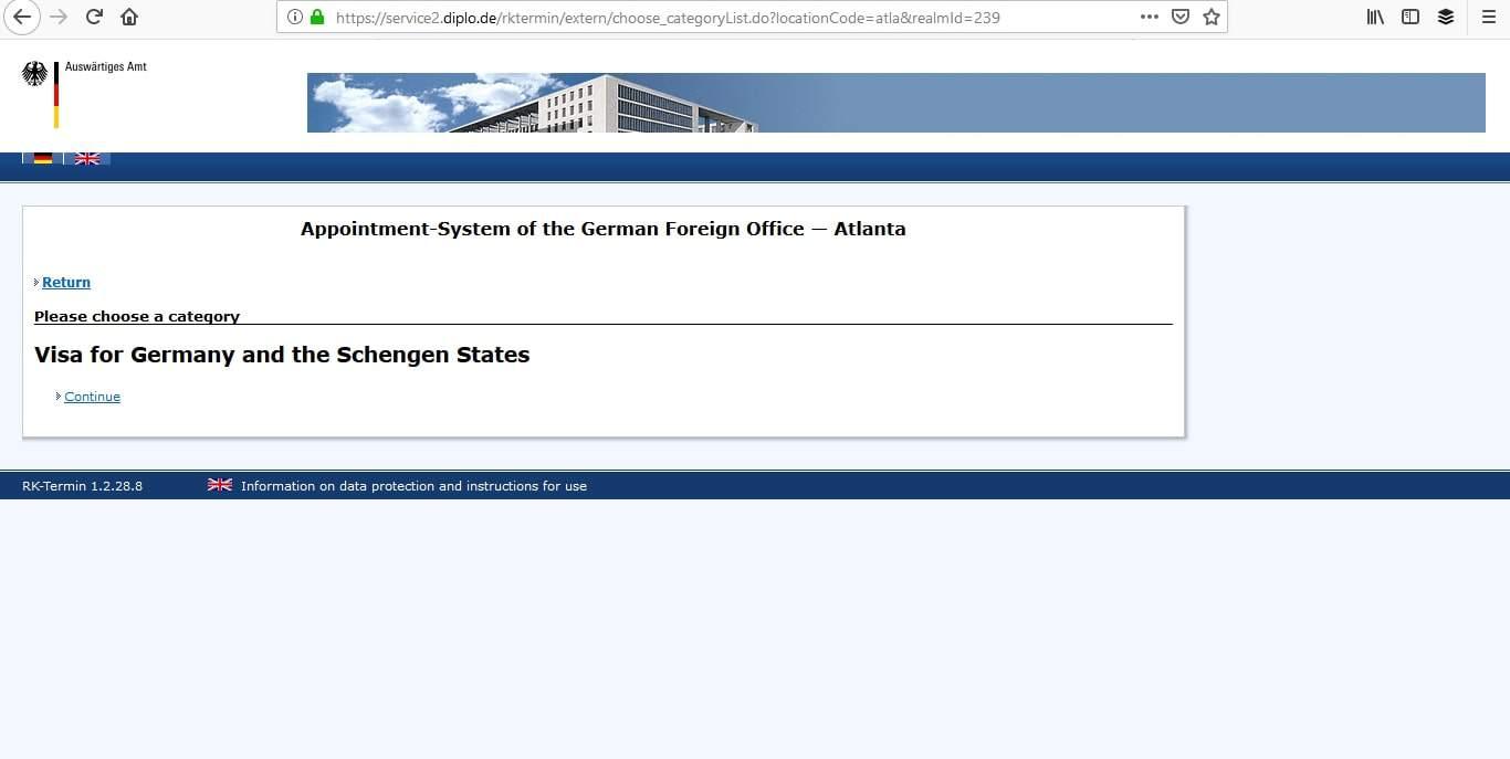 Germany Schengen Visa Atlanta Consulate Visa Appointment3