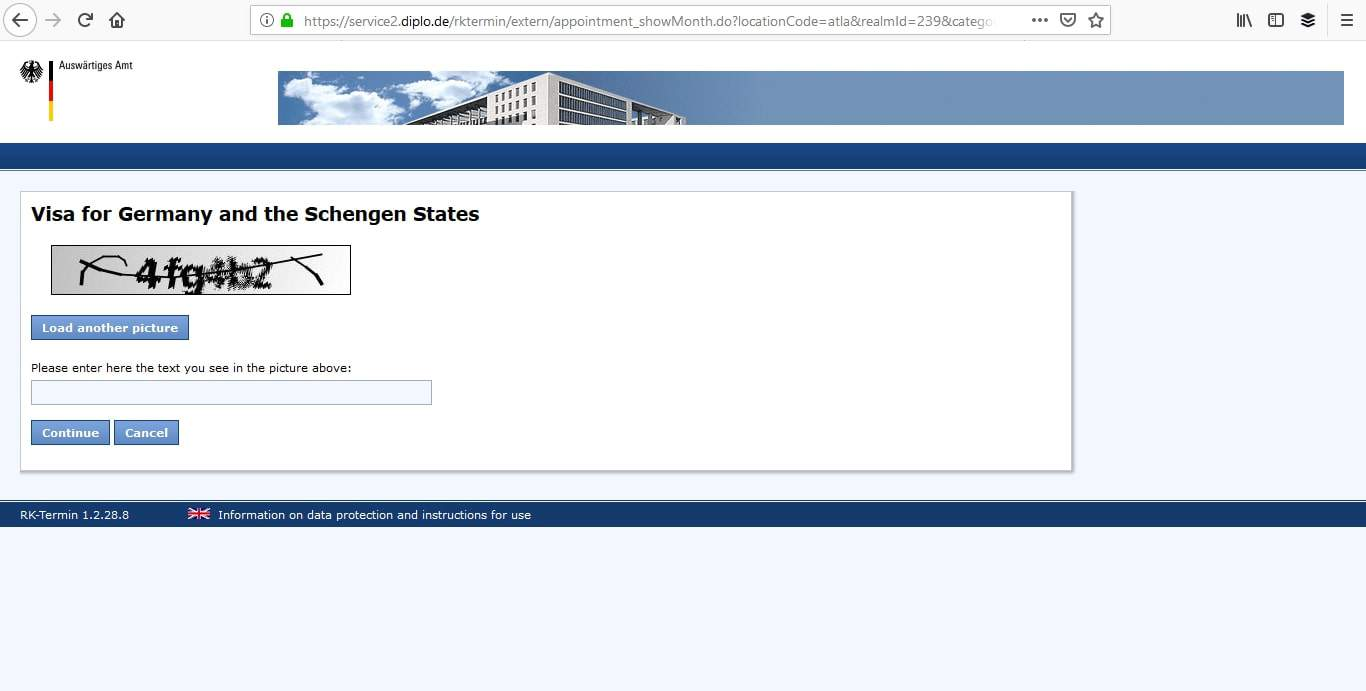 Germany Schengen Visa Atlanta Consulate Visa Appointment5