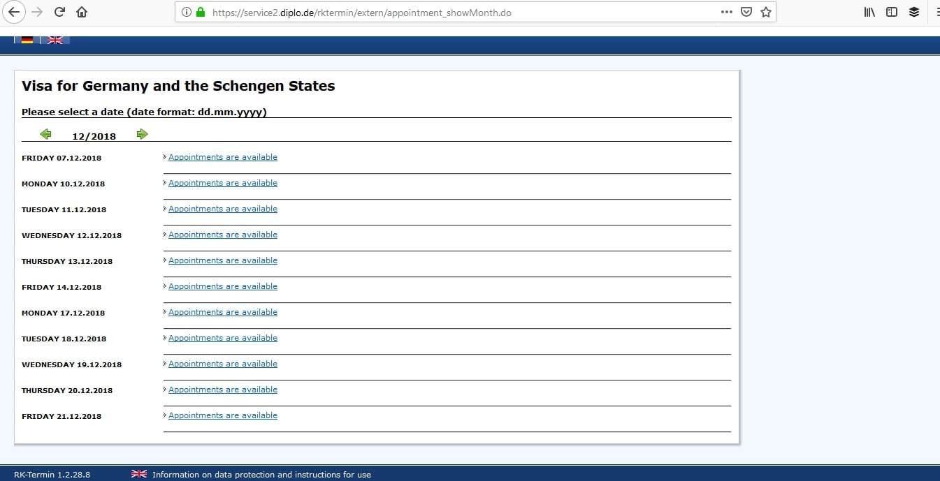 Germany Schengen Visa Atlanta Consulate Visa Appointment6