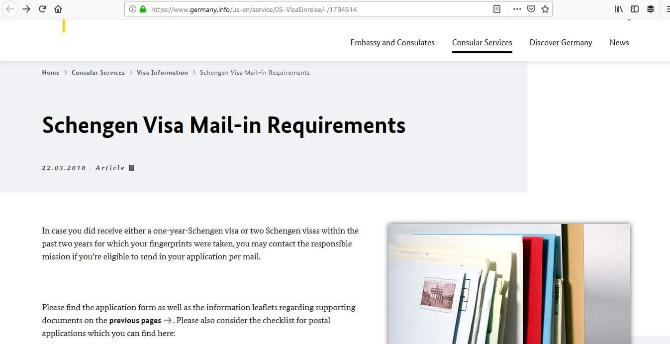 Germany Schengen Visa Atlanta Consulate Visa Mail