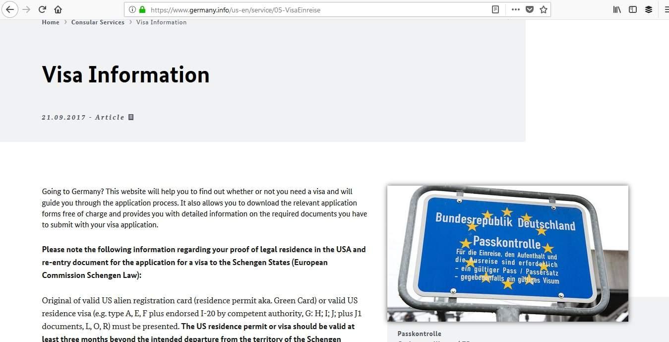 Germany Schengen Visa Boston Consulate Requirements