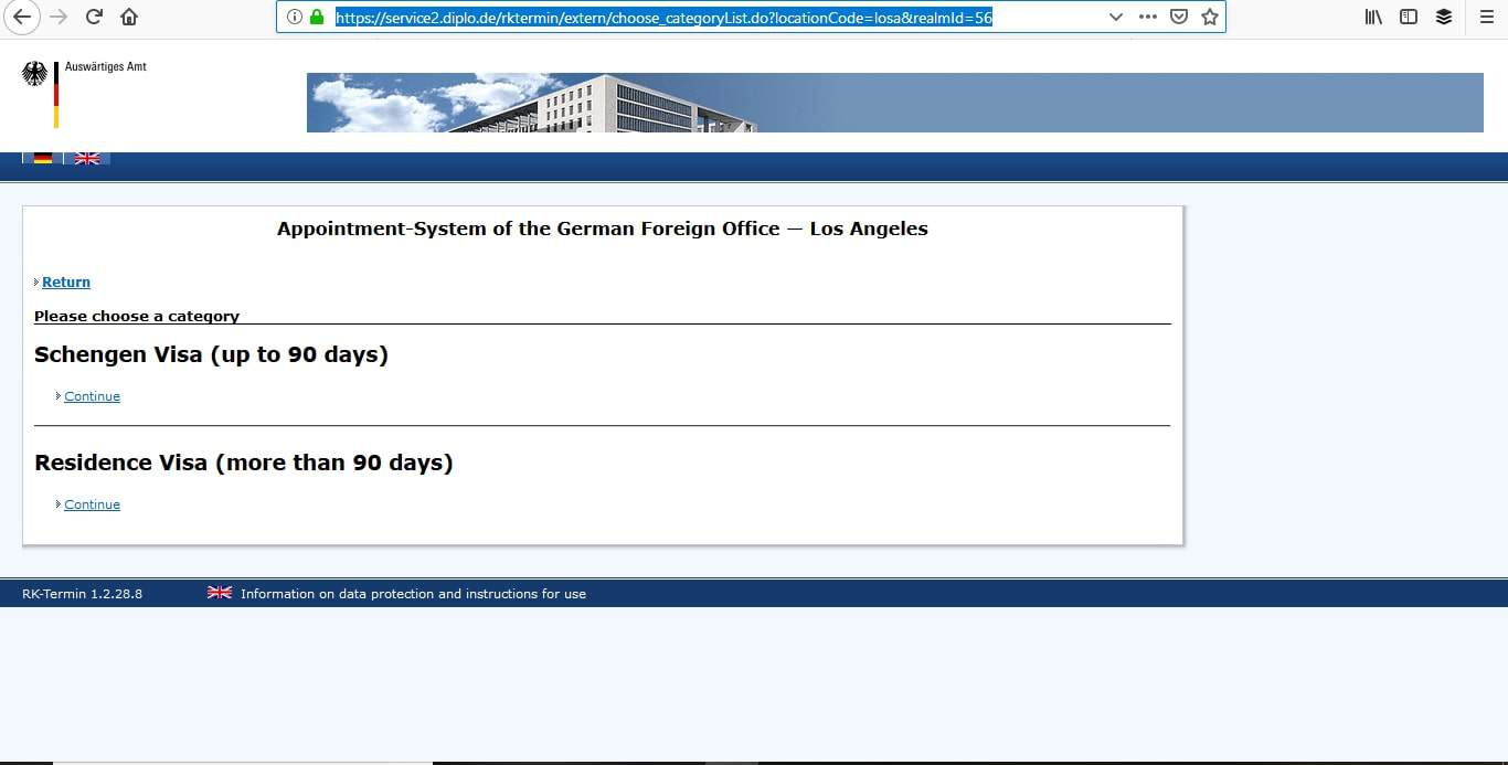 Germany Schengen Visa Los Angeles Consulate Appointment2
