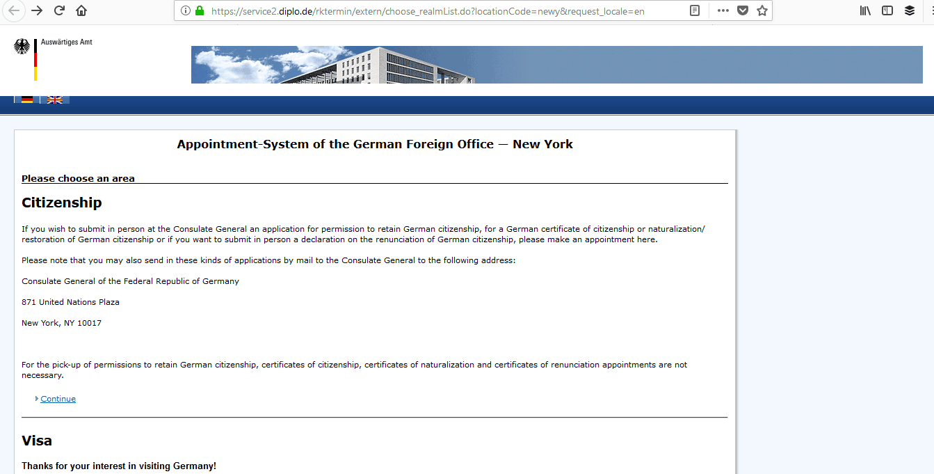Germany Schengen Visa New York Consulate Appointment