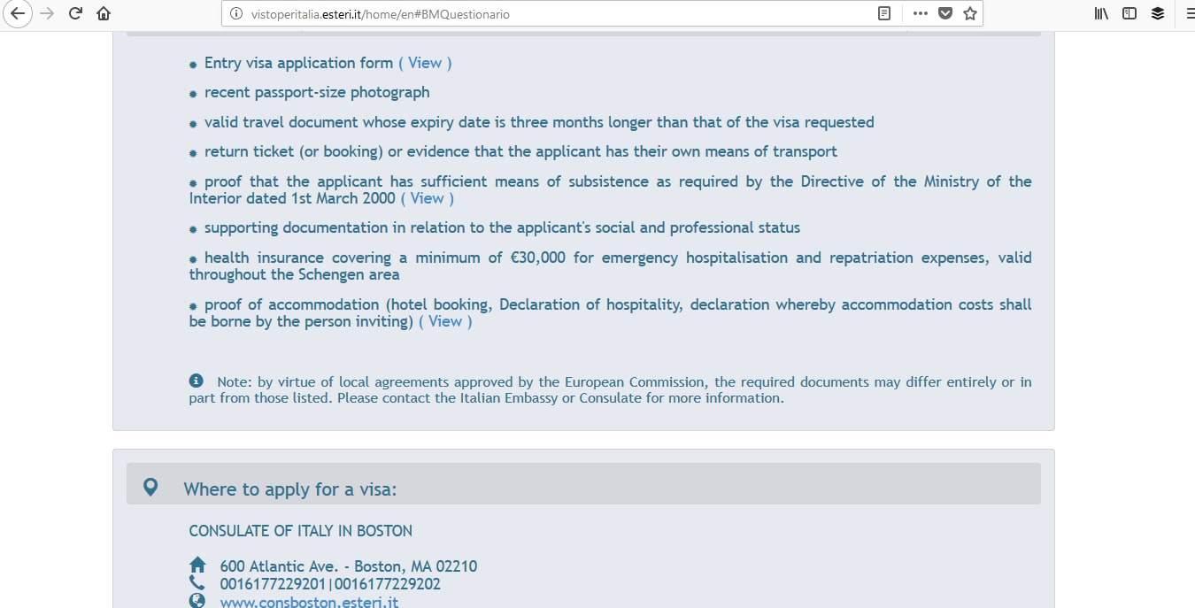 Italy Schengen Visa Miami Consulate Application Process2