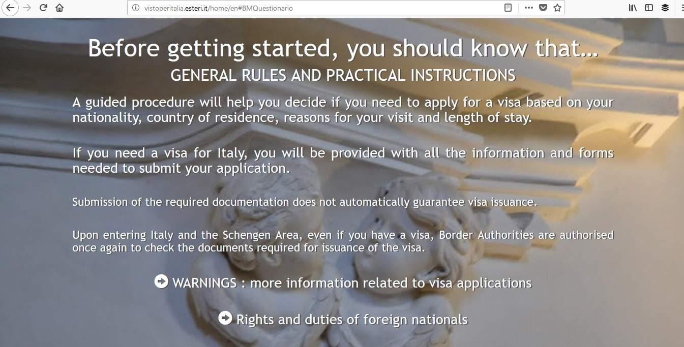 Italy Schengen Visa Miami Consulate Application1