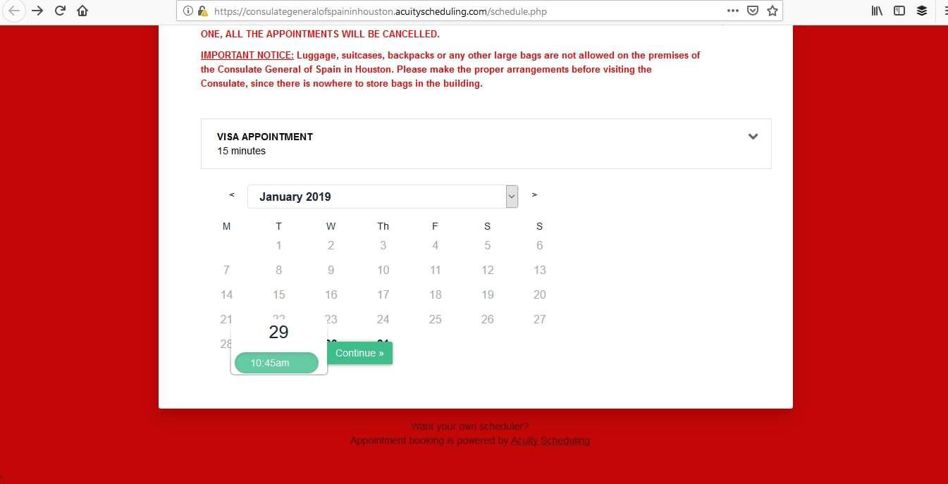 Spain Schengen Visa Houston Consulate Appointment2