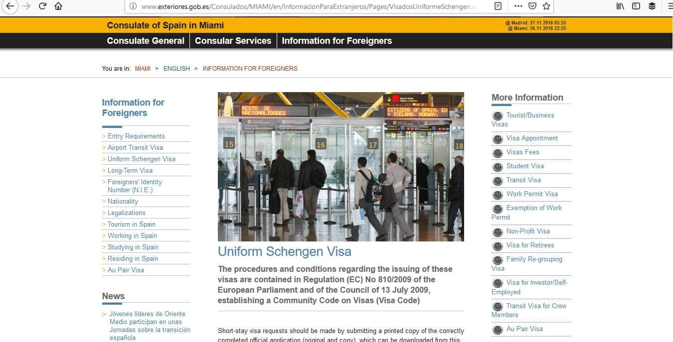 Spain Schengen Visa Miami Consulate Application Process