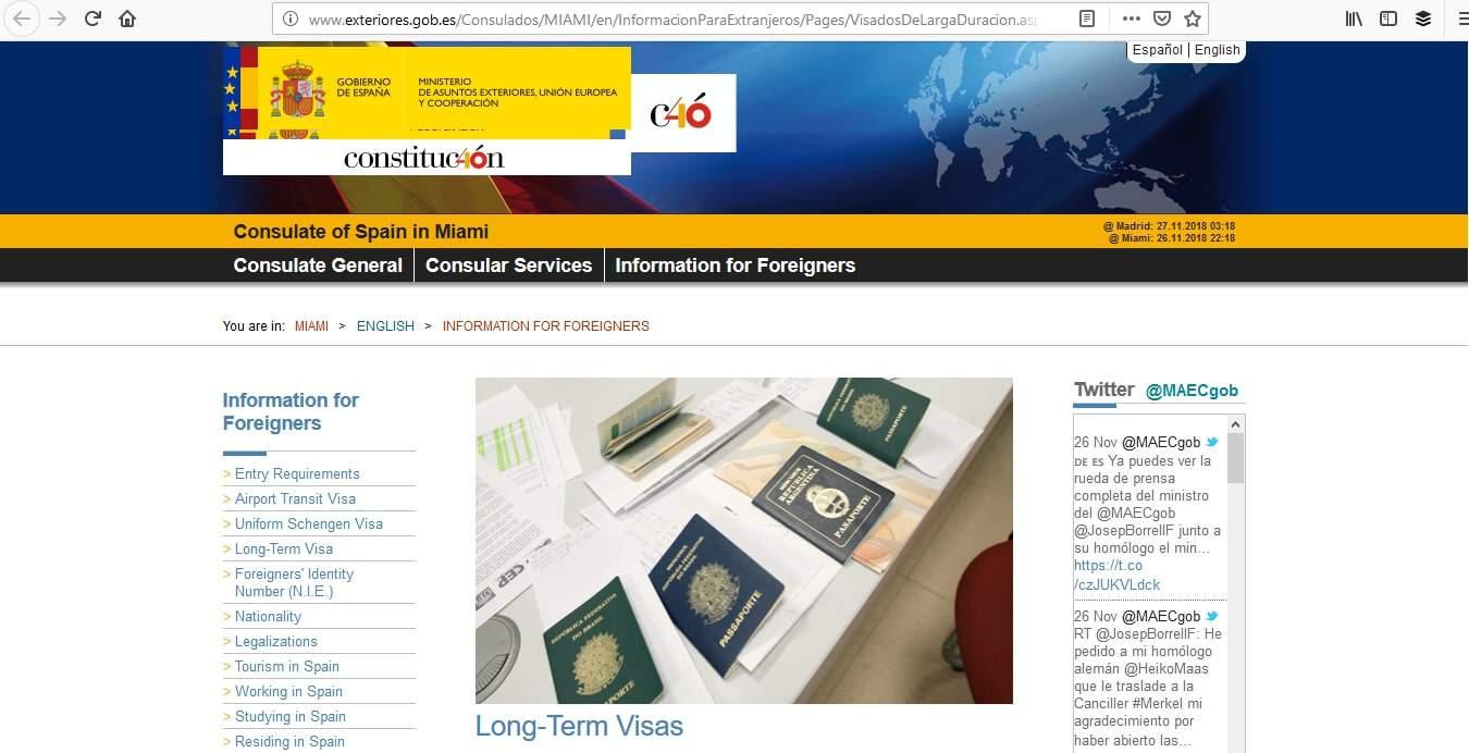 Spain Schengen Visa Miami Consulate Long Term Visas