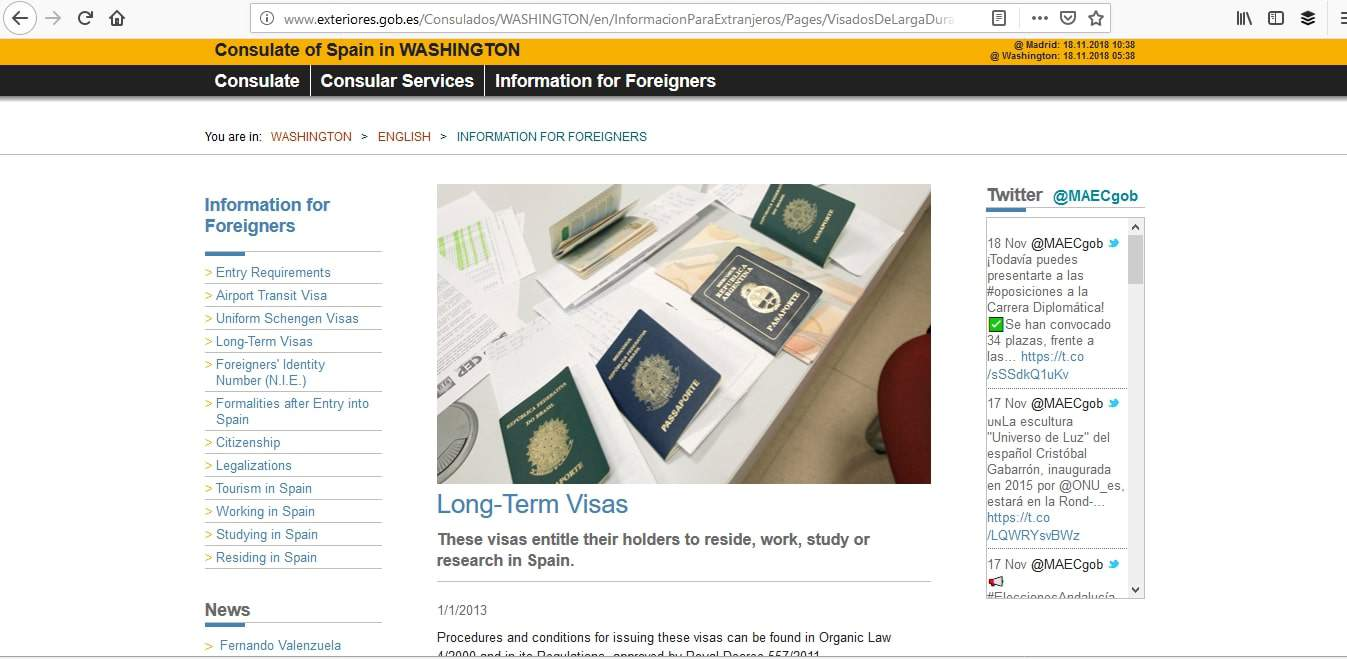 Spain Schengen Visa Washington DC Consulate Application Process1