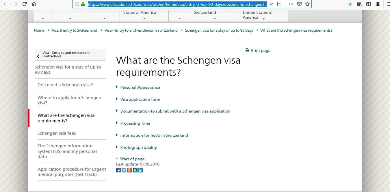 Switzerland Schengen Visa San Francisco Consulate Requirements