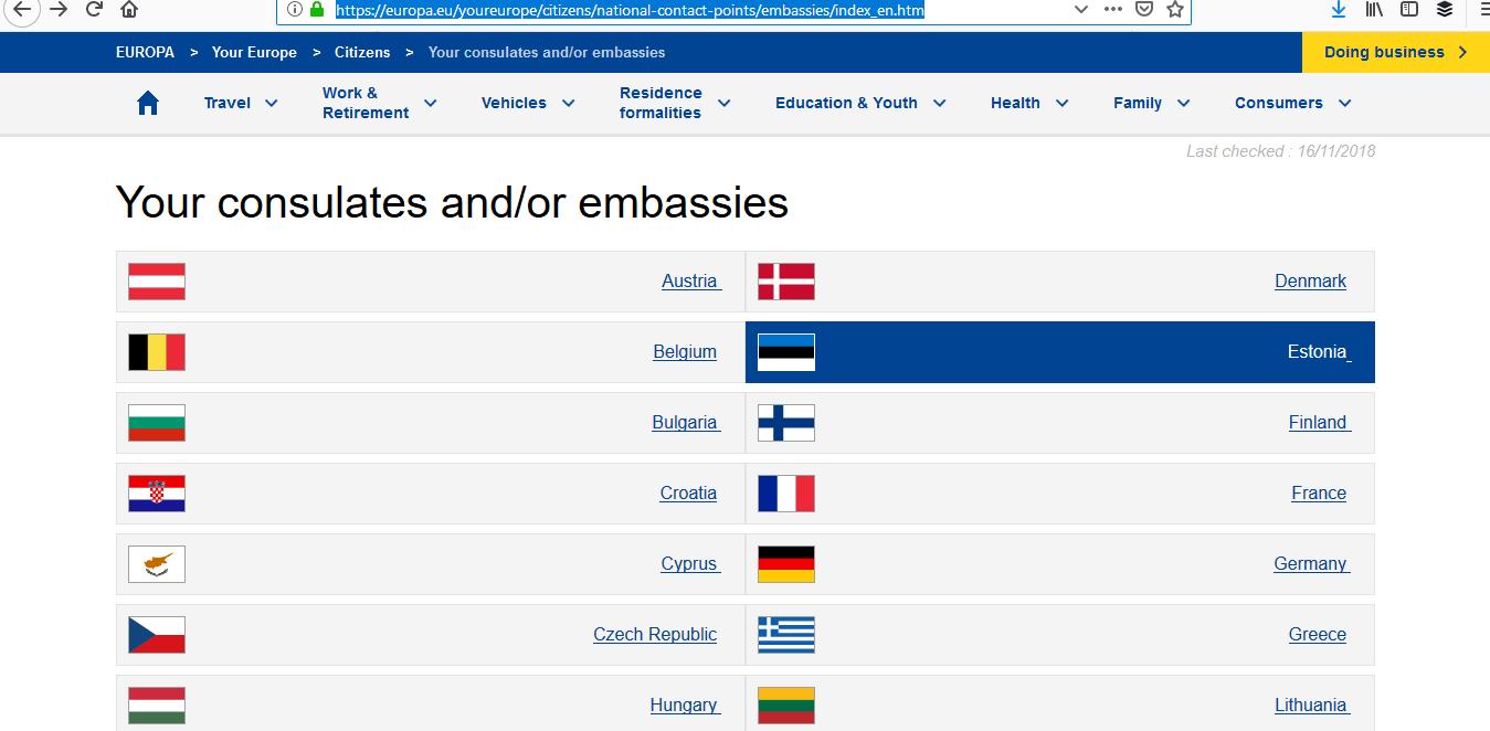 Airport Transit Visa - Nationalities