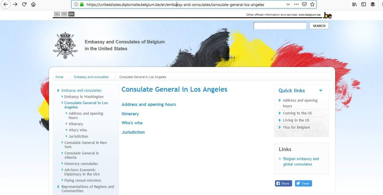 Belgium Schengen Visa Los Angeles Consulate Appointment