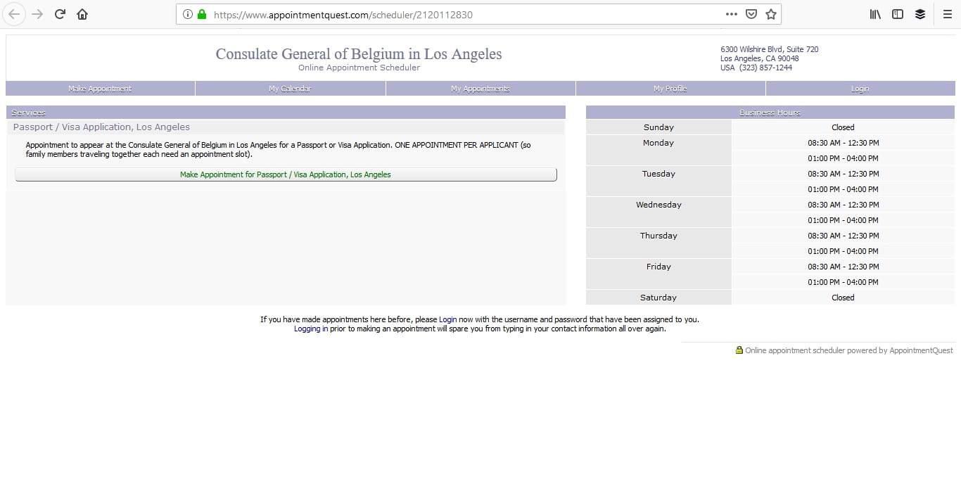 Belgium Schengen Visa Los Angeles Consulate Appointment2