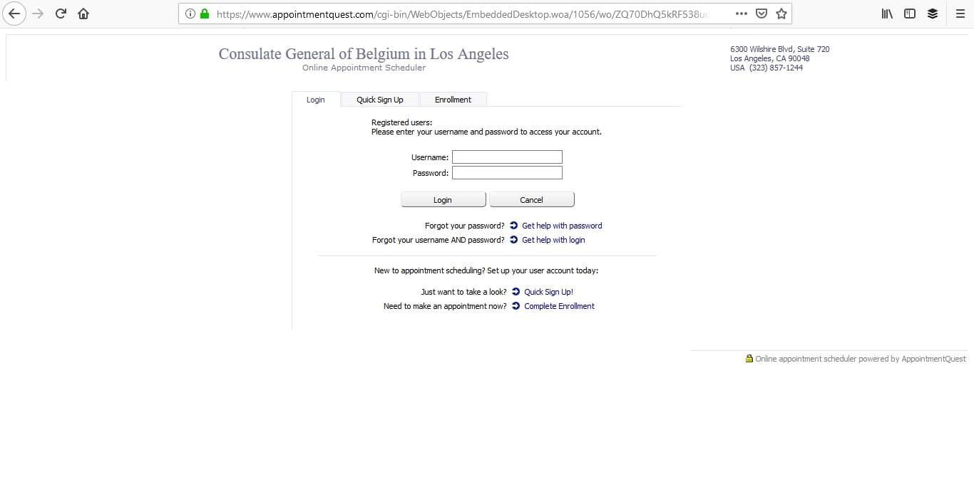 Belgium Schengen Visa Los Angeles Consulate Appointment3