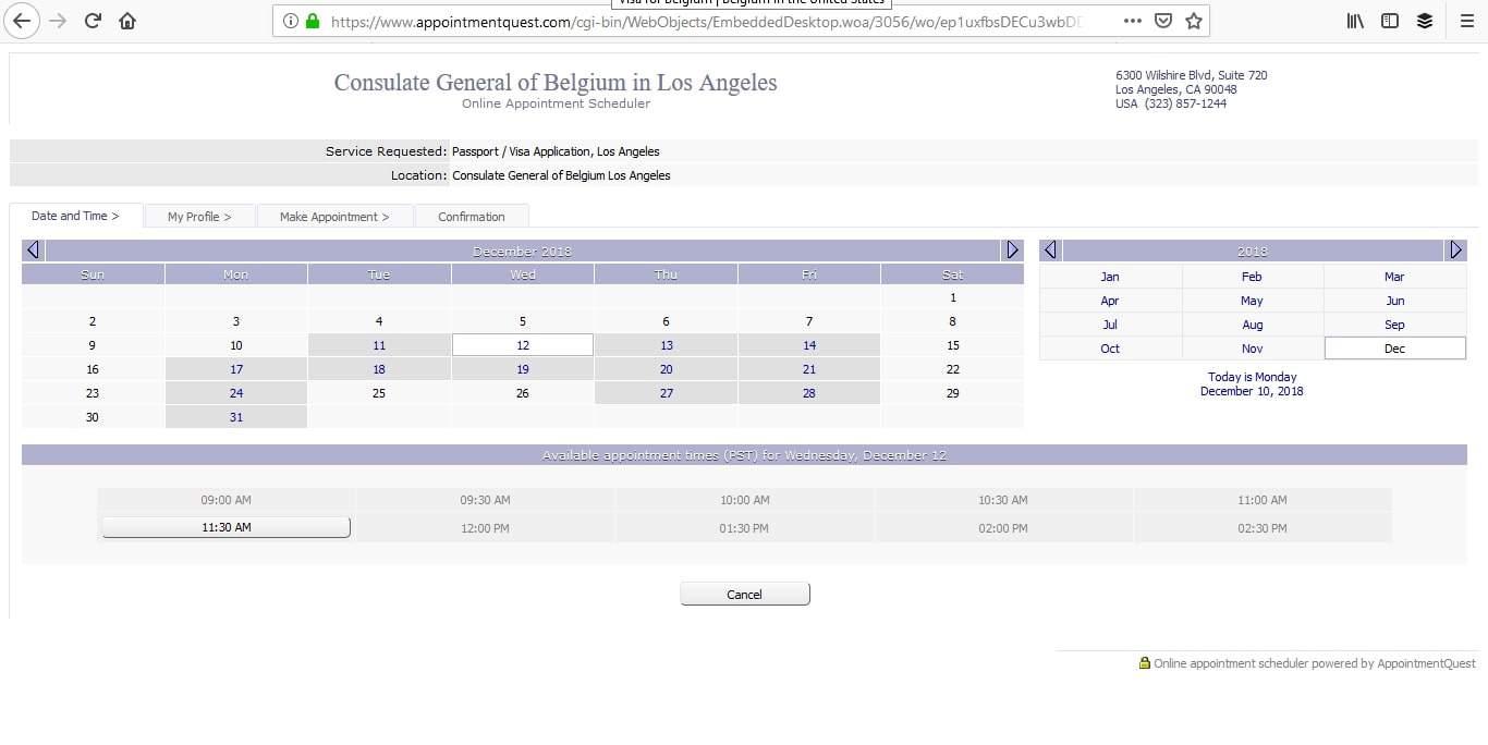 Belgium Schengen Visa Los Angeles Consulate Appointment6