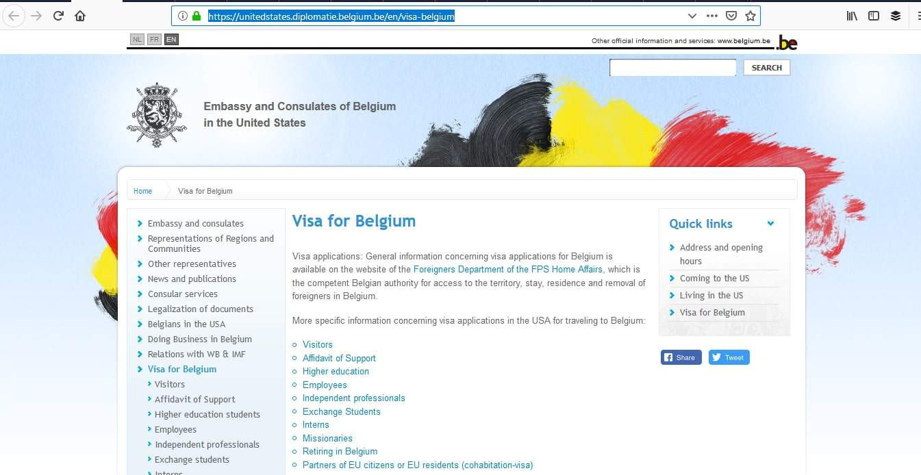 Belgium Schengen Visa NYC New York Consulate Application Process
