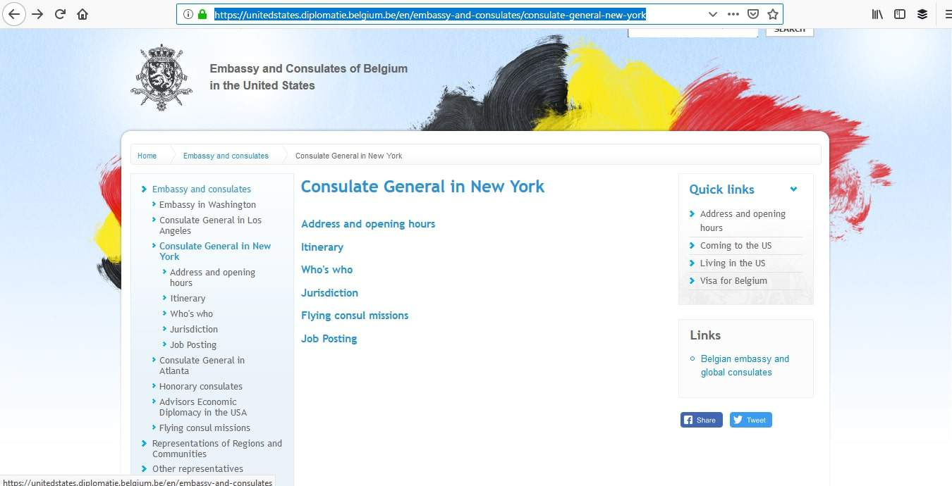 Belgium Schengen Visa NYC New York Consulate Application Process1