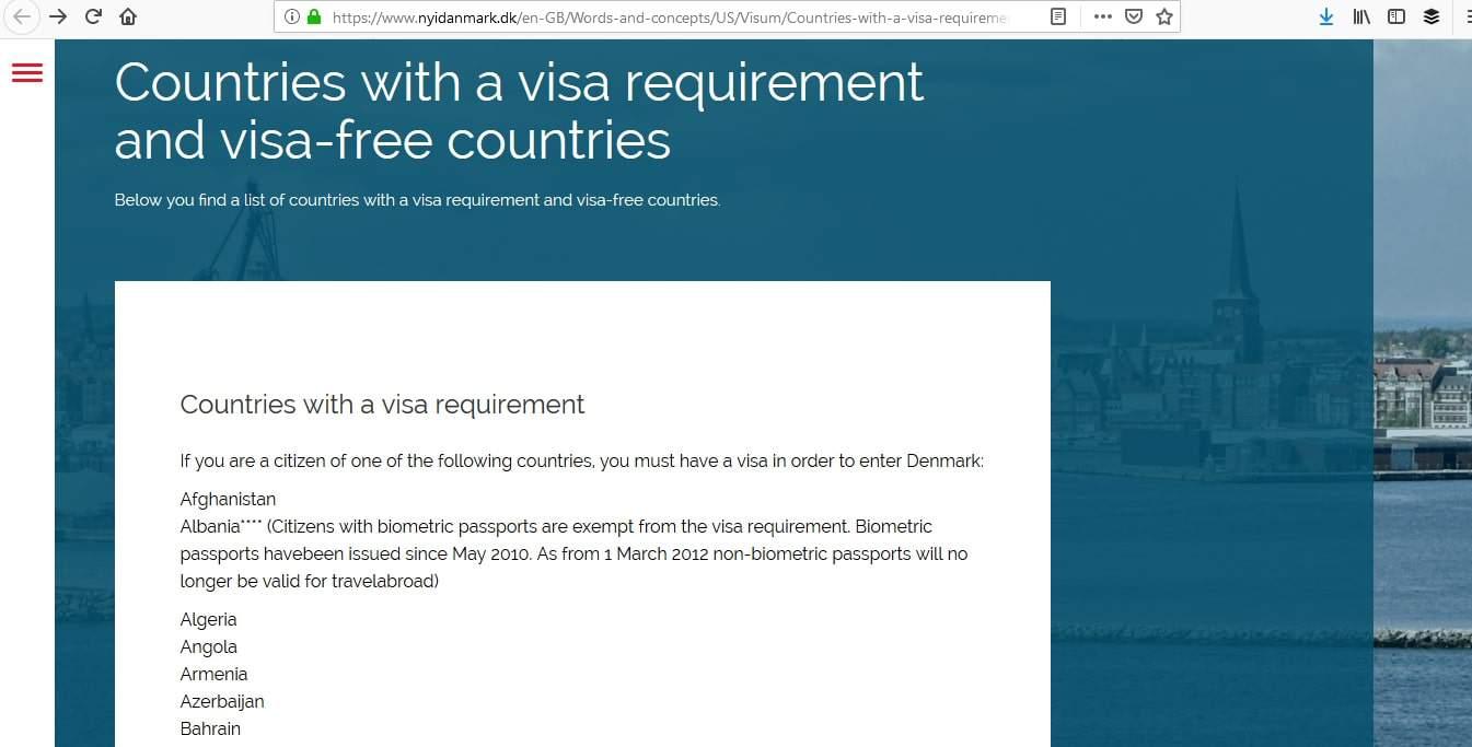 Denmark Schengen Visa NYC New York Consulate Eligibility