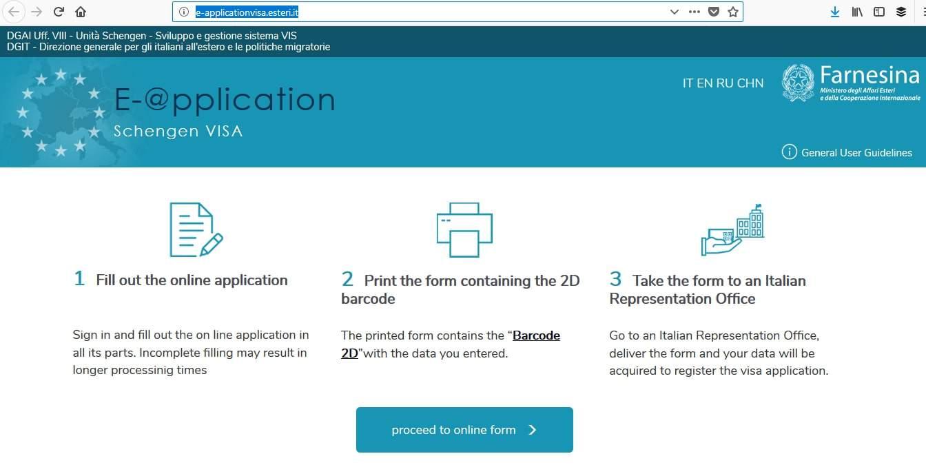 Italy Schengen Visa Detroit Consulate Online Application1