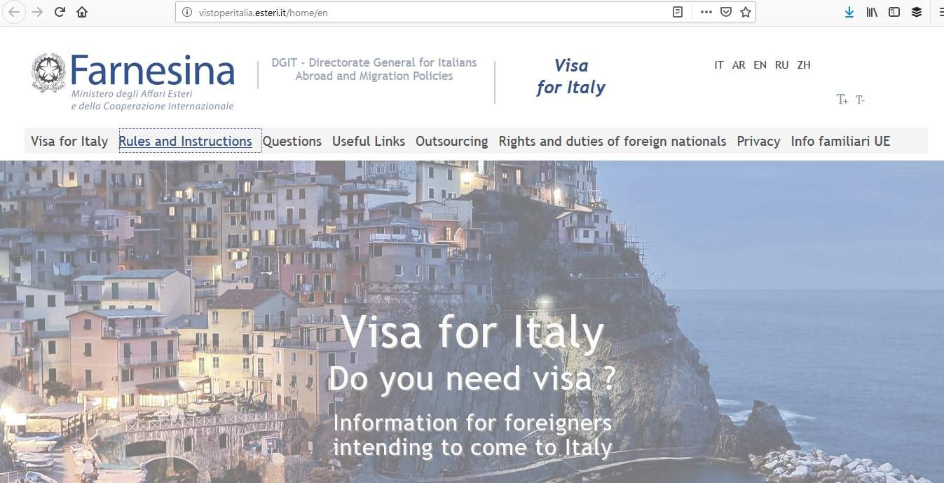 Italy Schengen Visa Philadelphia Consulate Application Process