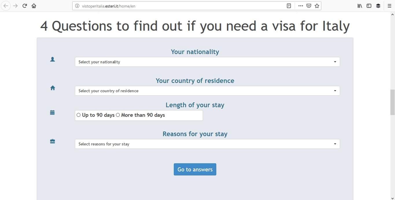 Italy Schengen Visa Washington DC Consulate Application Process