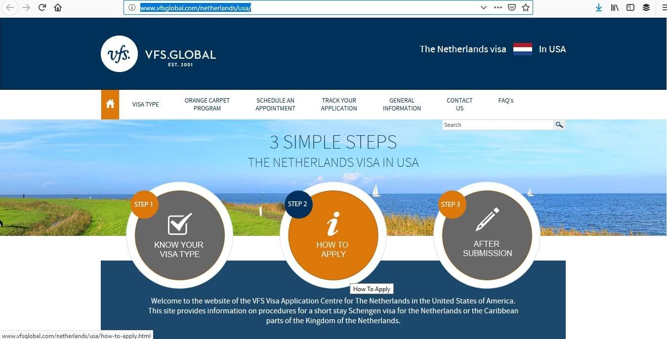 Netherlands Schengen Visa Appointment