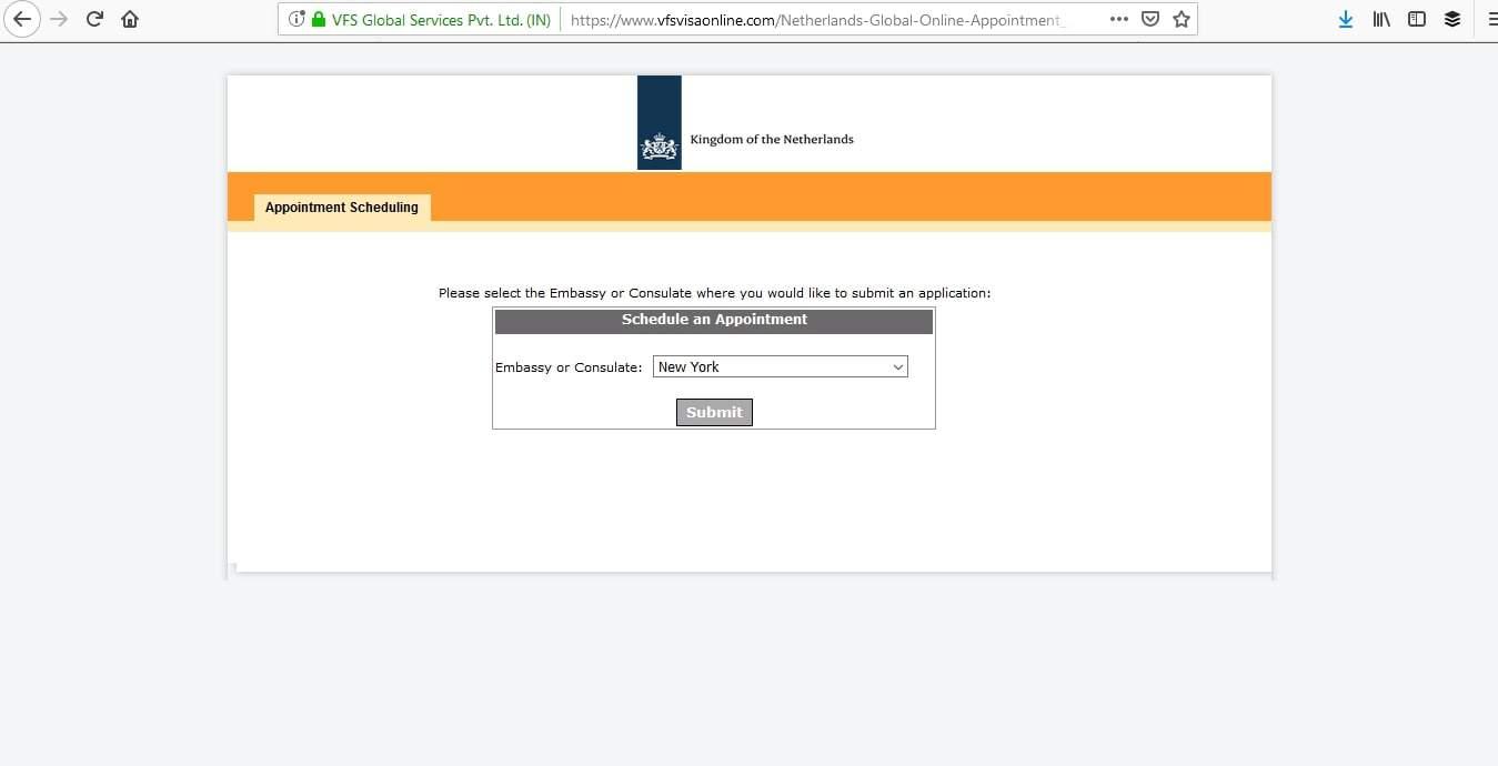 Netherlands Schengen Visa Appointment9
