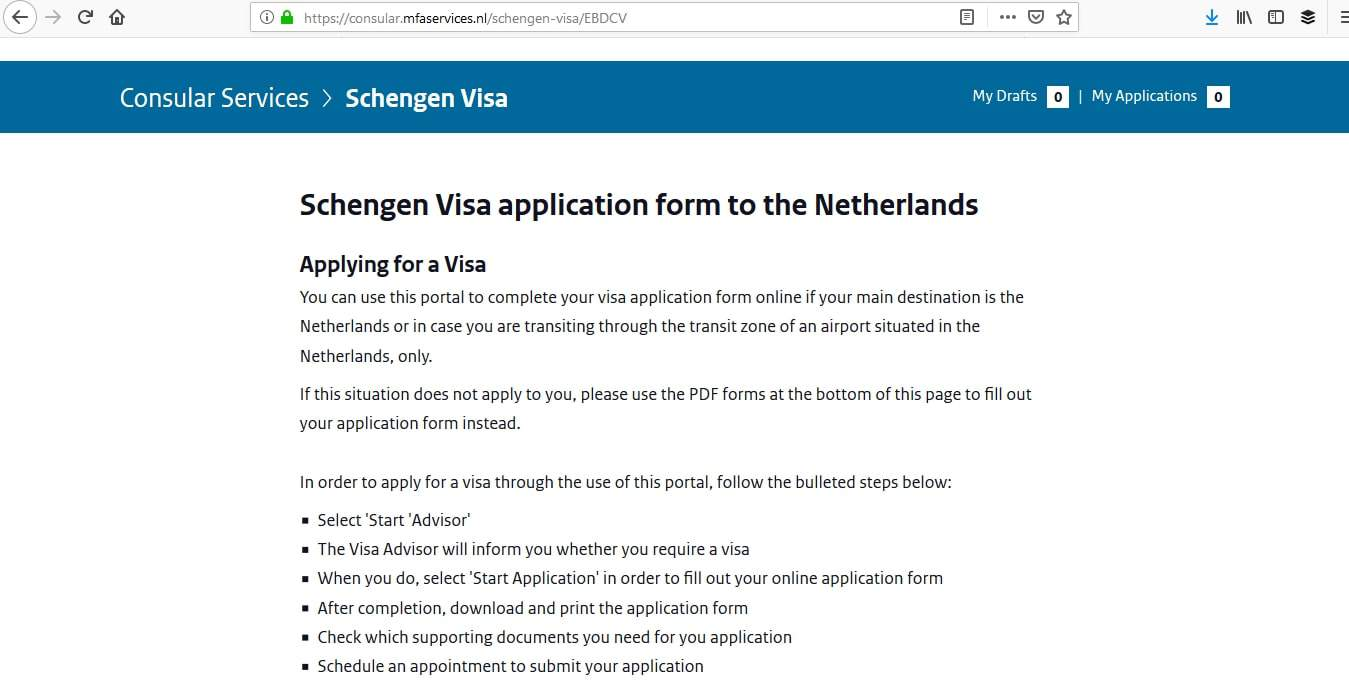 Netherlands Schengen Visa San Francisco Consulate Application Process1