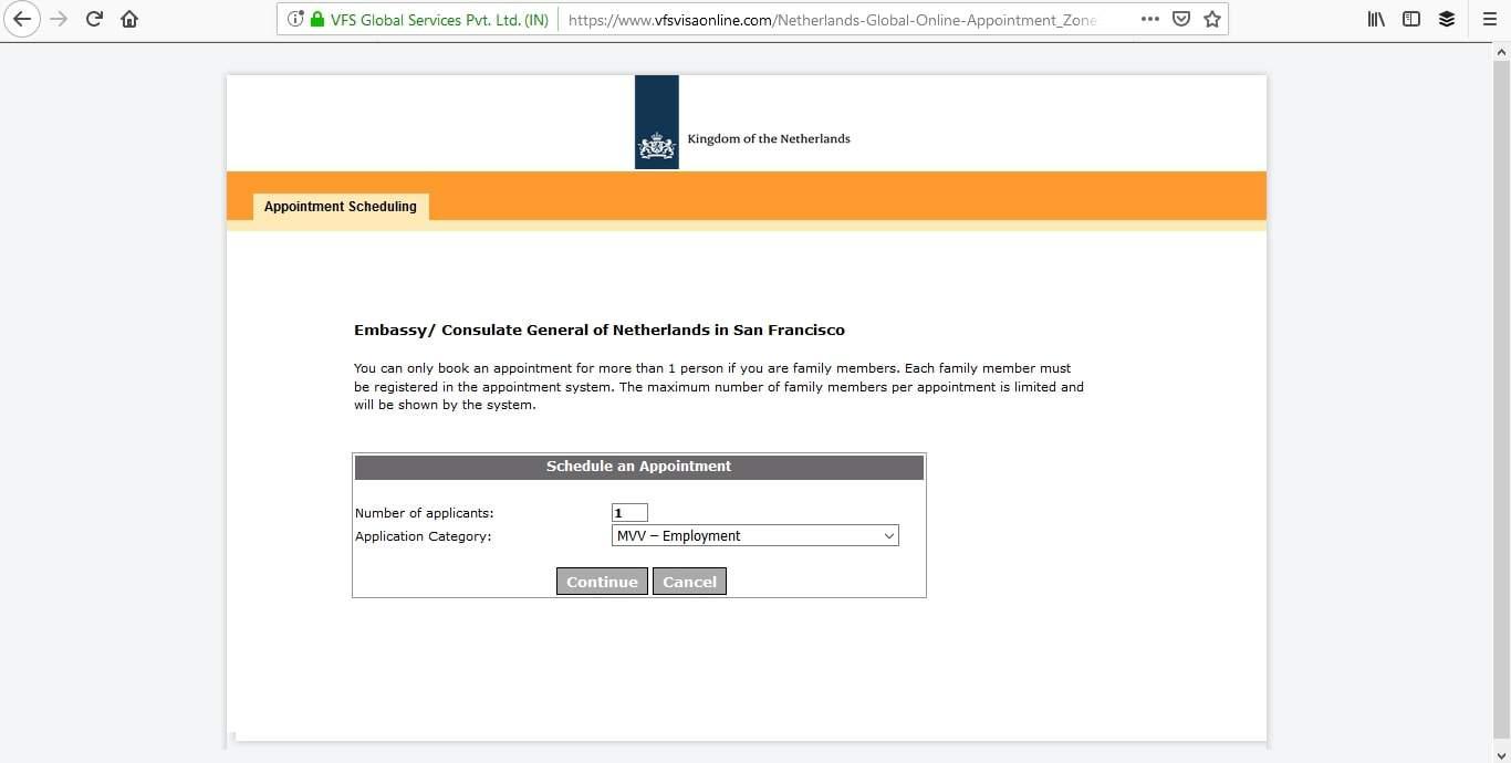 Netherlands Schengen Visa San Francisco Consulate Appointment10