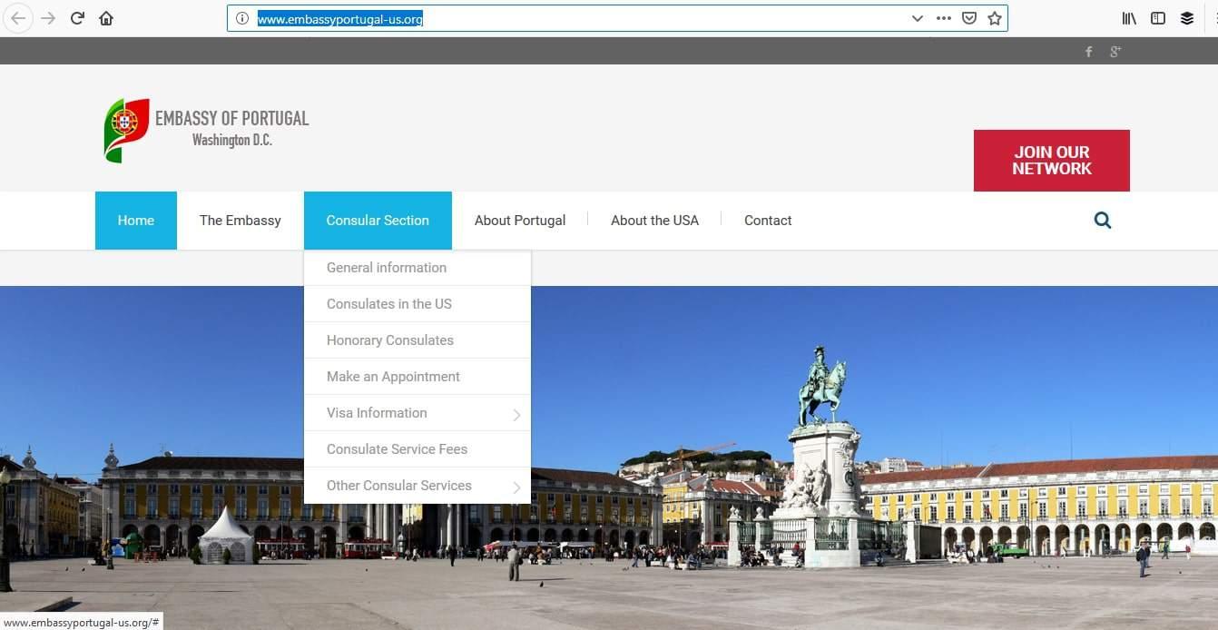 Portugal Schengen Visa Washington DC Embassy Online Application2