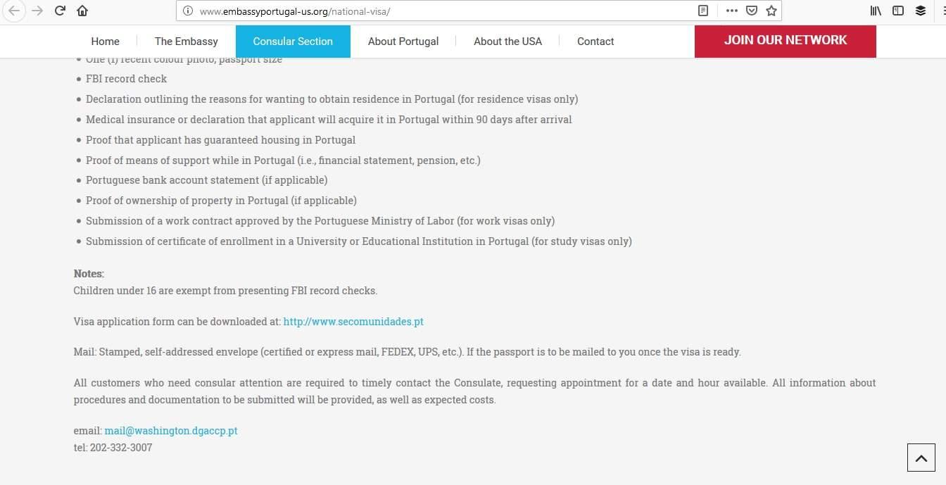 Portugal Schengen Visa Washington DC Embassy Online Application3