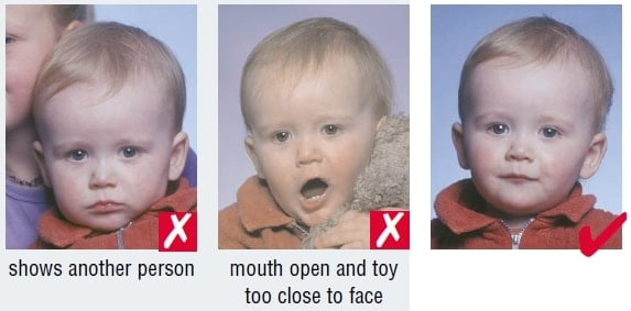 Schengen Visa Photo Requirements France - Babies