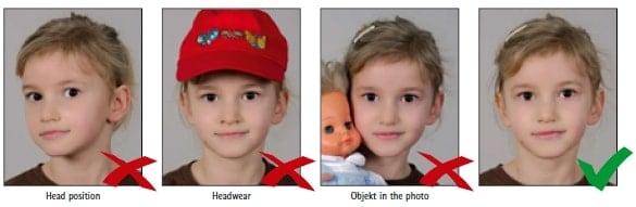Schengen Visa Photo Requirements Germany - Children