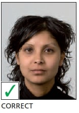 Schengen Visa Photo Requirements Netherlands - Head and Facial - Correct