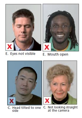 Schengen Visa Photo Requirements Netherlands - Head and Facial - Wrong