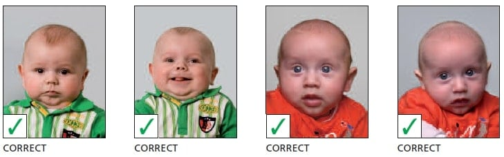 Schengen Visa Photo Requirements Netherlands - Infants