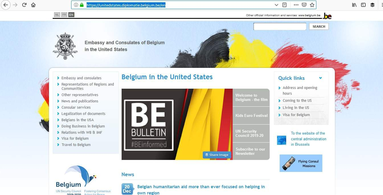 Belgium Schengen Visa Washington DC Embassy Appointment