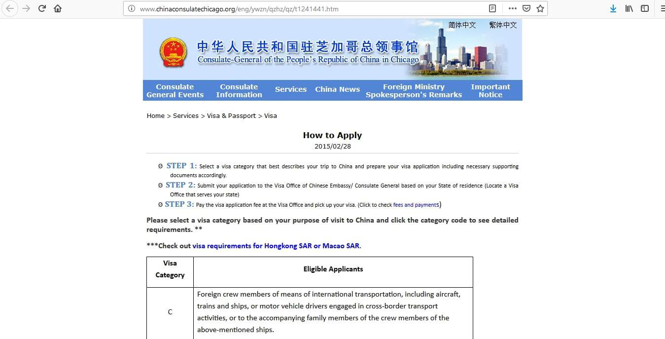 China Visa Application Process