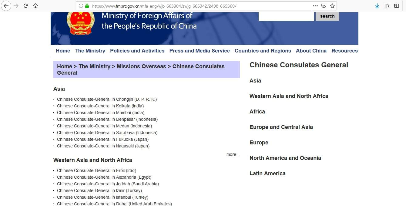 China Visa Embassies and Consulates1