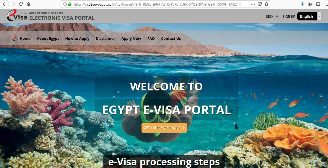 Egypt Visa e-Visa Portal