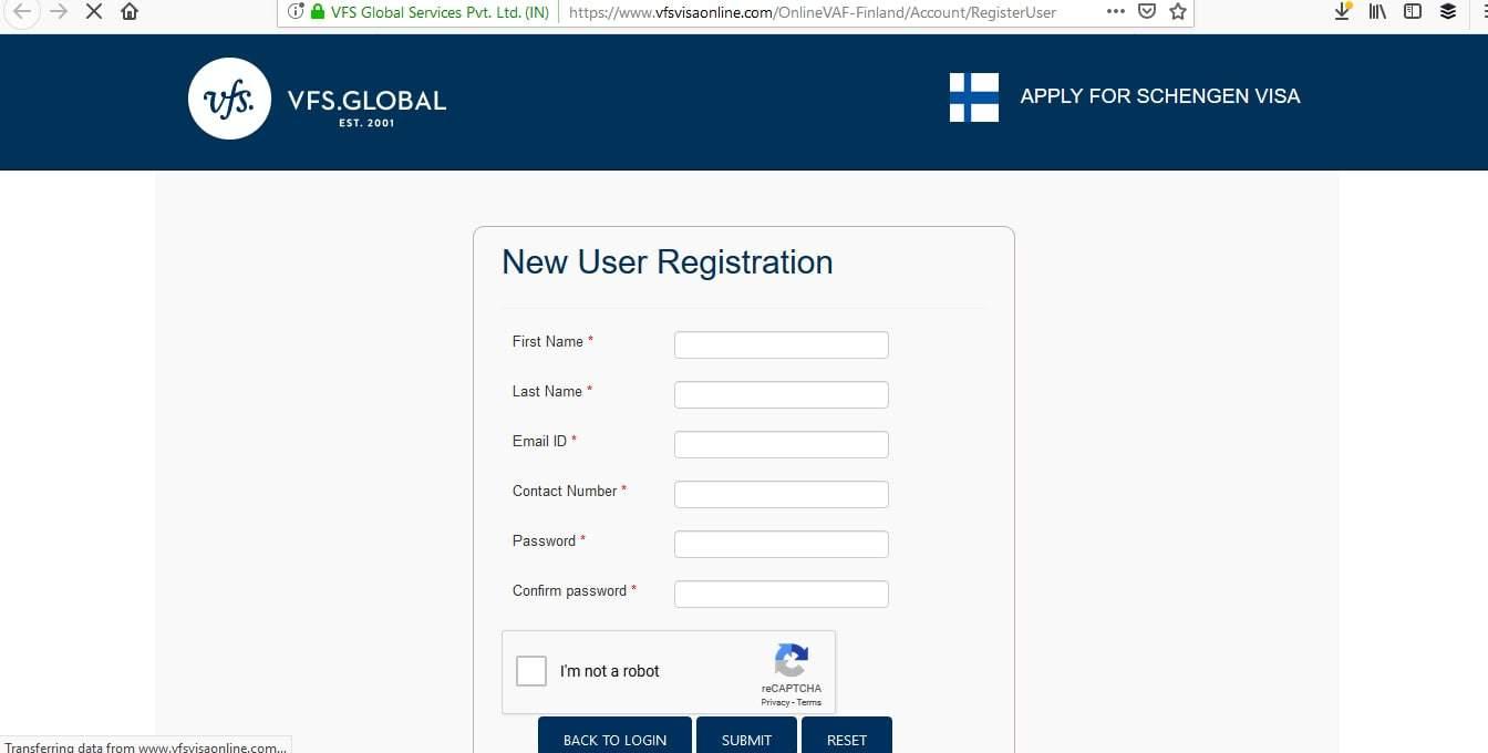 Finland Schengen Visa NYC New York Consulate Online Application2