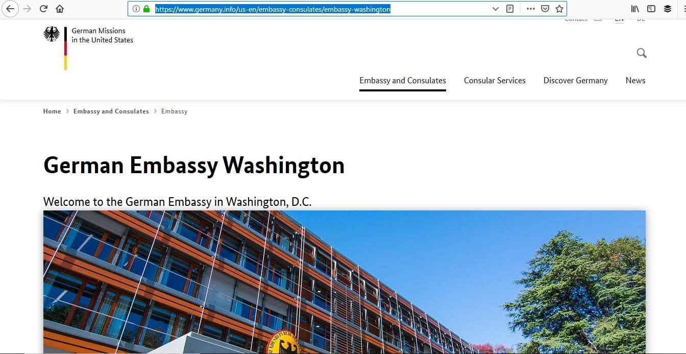 Germany Schengen Visa Washington DC Embassy Application Process