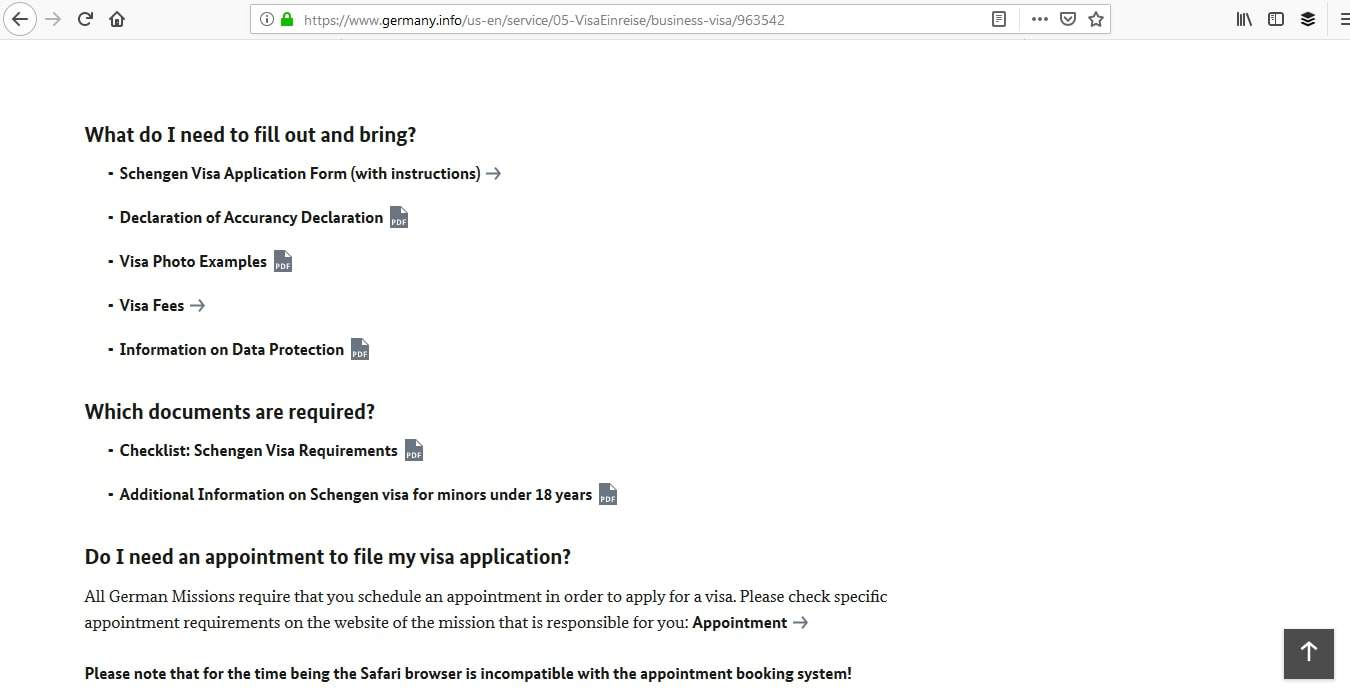 Germany Schengen Visa Washington DC Embassy Application Process5